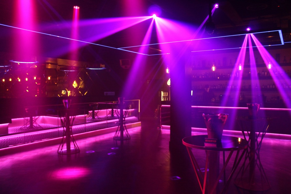 etiquette nightclub lighting installation alg sound lighting